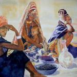 Dori Market, Watercolor
