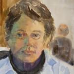 Self Portrait, Watercolor