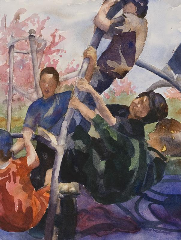 Study of Boys, 2012, Watercolor