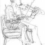 Violinist at Practice